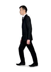 Business man walking side