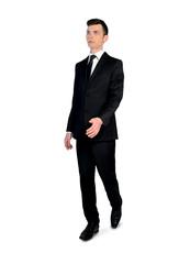 Business man walking forward