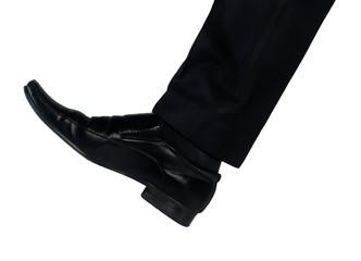 Shoe feet hit something
