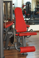 Abs machine in gym interior
