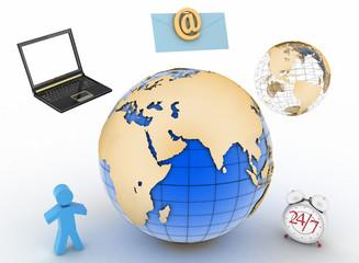 Conception of twenty-four-hour connection over internet