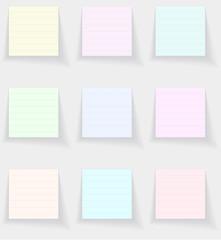 Leaflets paper for writing. Raster