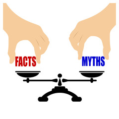 Facts vs myths concept