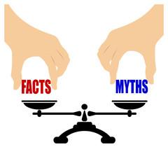 Facts vs myths concept