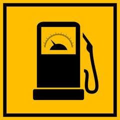 Car fuel station sign