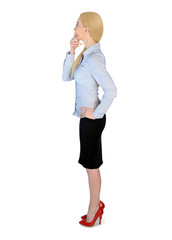 Business woman thinking solution