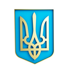 emblem of ukraine on a white background
