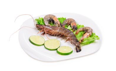 Delicious fresh shrimps