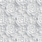 Floral  Seamless Pattern Background.