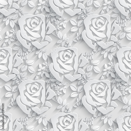 Spoed canvasdoek 2cm dik Kunstmatig Floral Seamless Pattern Background.