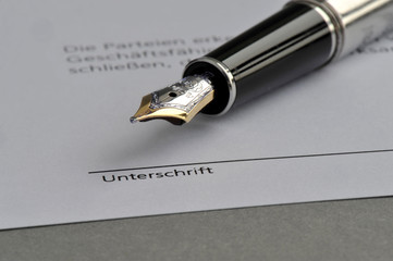 Unterschrift, Signatur, Vertragsrecht, Faksimile, unterschreiben