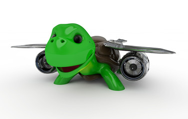 Turtle with Jet Engine