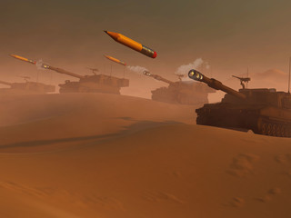 War Tanks Shooting Pencils