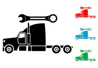Pictograma reparacion de camion lateral en varios colores