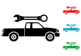 Pictograma reparacion de pickup en varios colores