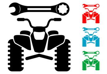 Pictograma reparacion de quad frontal en varios colores