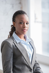 Pretty african businesswoman