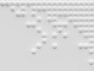Abstract white 3D wallpaper with spheres