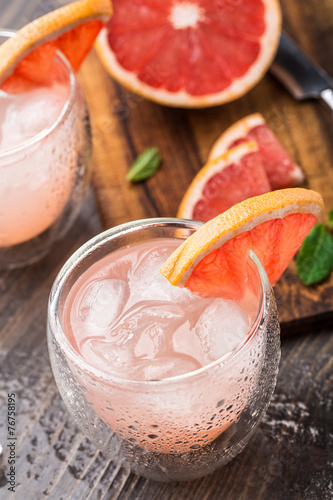 Plagát, Obraz Grapefruit cocktail