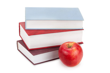 hardcover books and apple