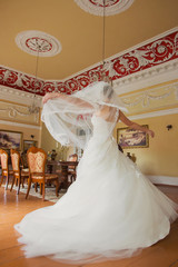 bride dancing in the hall