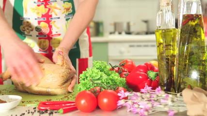 Cutting Chicken