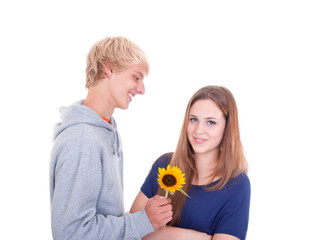 Teenager verliebt