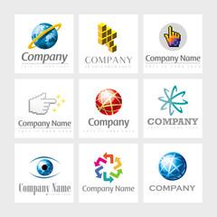 Vector logos - Networking