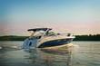 Leinwanddruck Bild - Motorboat yacht