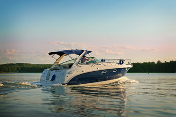 Motorboat yacht