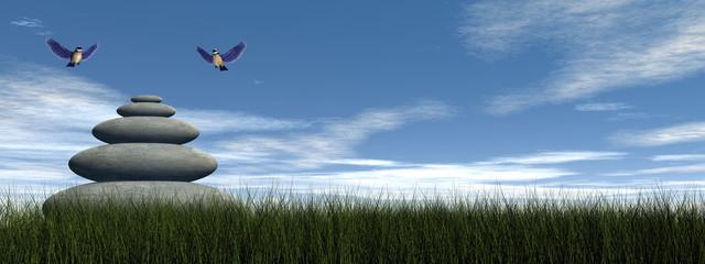 Bird peace - 3D render