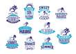 Summer holidays retro symbols and logo - 76761174