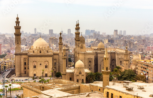 Poster View of the Mosques of Sultan Hassan and Al-Rifai in Cairo - Egy