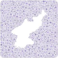 Map of North Korea into a square icon