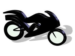 3D Motorrad Tribal