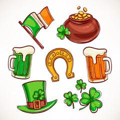 St. Patrick`s Day icon set