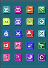 20 web media icons buttons