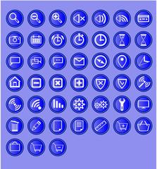 45 web madia icons