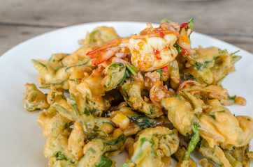 Spicy Deep Fried Morning Glory Salad