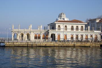 Ferry bridge in Prince Island Buyukada in Istanbul