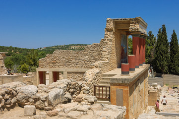 Knossos palace, south side view
