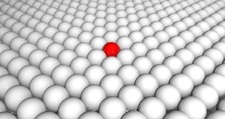 Leader red sphere