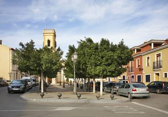 Main square in La Ermita. Province of Alicante. Spain