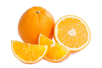 Ripe orange fruit and his segments