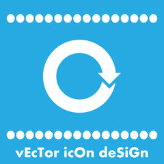 circular arrow sign vector icon