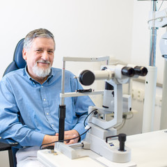 Optometry concept - Senior patient