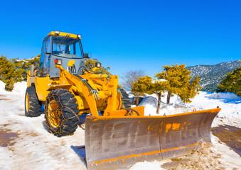Snow Machinery on Ziria mountain Ski center in Greece