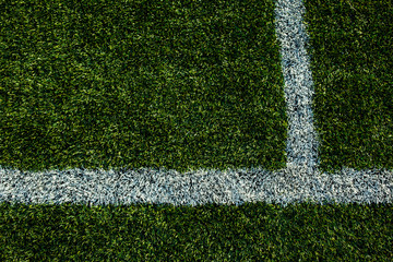 Soccery pitch - well cut grass of a soccer field