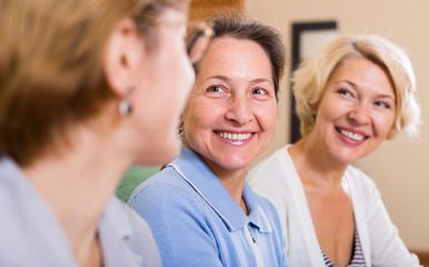 happy female pensioners
