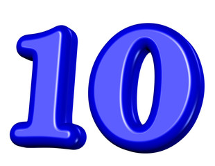 mavi renkli 10 sayısı